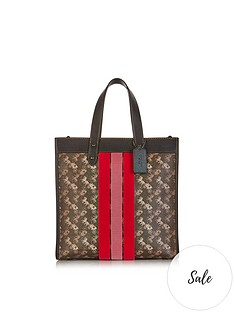 coach-varsity-stripe-carriage-print-field-tote-bag-brown