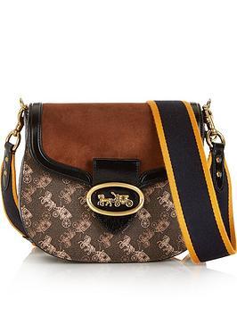 coach-kat-carriage-print-saddle-20-cross-body-bag-brown