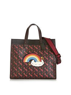 coach-rainbow-carriagenbspprint-field-tote-40-bag-black