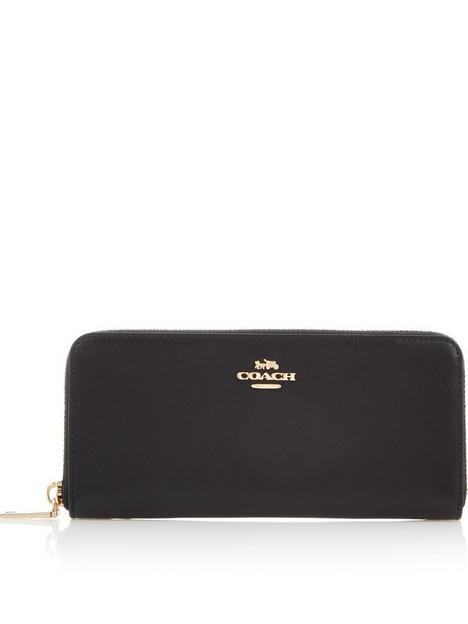 coach-smooth-leather-slim-accordion-zip-purse-black