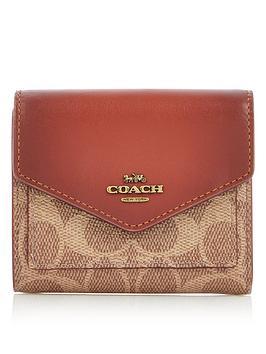 coach-colourblock-coated-canvas-signature-small-purse-tan