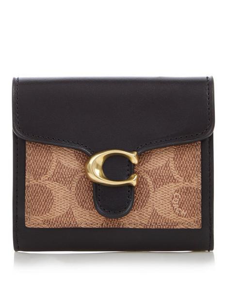 coach-tabby-colourblock-coated-canvas-small-purse-tanblack