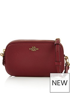 coach-sadie-polished-pebble-leather-cross-body-bag-red