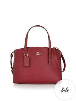 coach-charlie-28-polished-pebble-leather-cross-body-bag-red