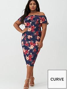 v-by-very-curve-floral-print-bardot-dress-navyfloral