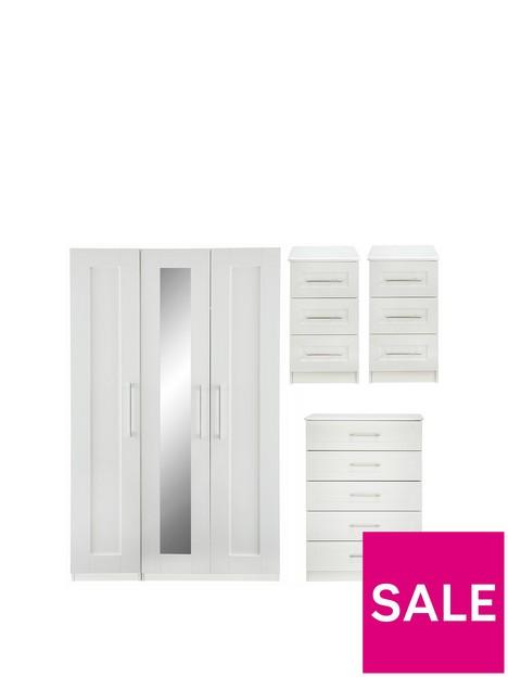frodsham-part-assemblednbsp4-piece-package-3-door-mirrored-wardrobe-5-drawer-chest-and-2-bedside-chests