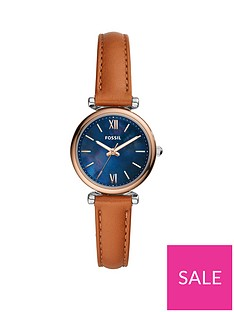 fossil-fossil-blue-sunray-and-rose-gold-detail-dial-tan-leather-strap-ladies-watch