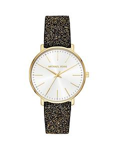 michael-kors-mk2878-silver-sunray-and-gold-detail-dial-black-glitz-leather-strap-ladies-watch