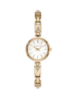 michael-kors-mk4439-jaryn-silver-dial-gold-stainless-steel-padlock-link-half-bangle-ladies-watch