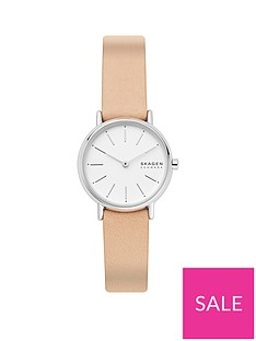 skagen-white-and-silver-detail-dial-pale-pink-leather-strap-ladies-watch
