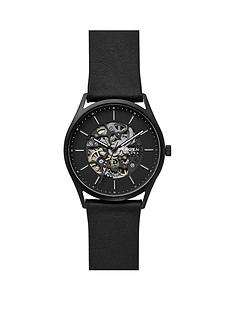 skagen-skagen-black-skeleton-dial-black-leather-strap-mens-watch