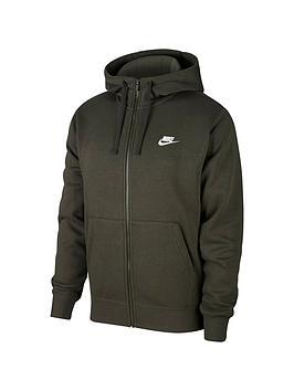 nike-club-fleece-full-zip-hoodie-green