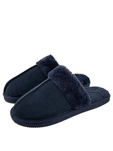 accessorize-real-suede-mule-slipper-navy