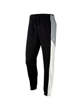 nike-colourblock-fleece-pants-black