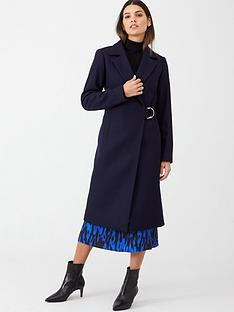 ted-baker-dezpina-d-ring-long-wrap-coat-dark-blue