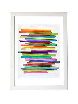 east-end-prints-colourful-stripes-by-mareike-boehmer-a3-framed-wall-art