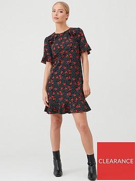 v-by-very-ruffle-detail-formal-tunic-dress-print