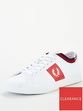 fred-perry-underspin-tipped-cuff-leather-trainer-white