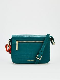 whistles-resin-chain-lizard-bag-teal
