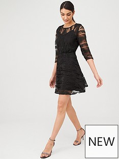 v-by-very-geo-lace-skater-dress-black