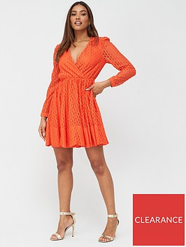 v-by-very-lace-wrap-skater-dress-red