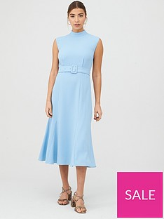 whistles-penny-belted-dress-pale-blue