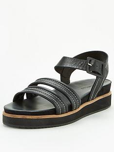 whistles-contrast-stitch-footbed-sandals-black