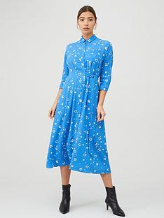 whistles-watercolour-animal-side-tie-midi-dress-bluemulti