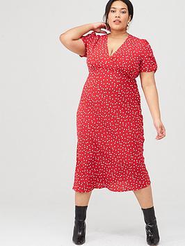oasis-curve-polka-dot-midi-dress-multired
