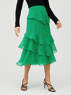whistles-sketched-floral-tiered-skirt-greenmulti