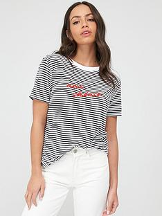whistles-oui-cherie-stripe-logo-t-shirt-blue