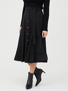 whistles-marissa-button-through-skirt-black