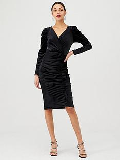 v-by-very-velvet-wrap-midi-dress-black