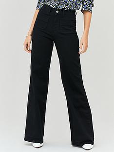 michelle-keegan-pocket-front-wide-leg-jeans-black