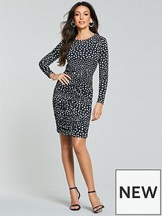 michelle-keegan-heart-print-midi-dress