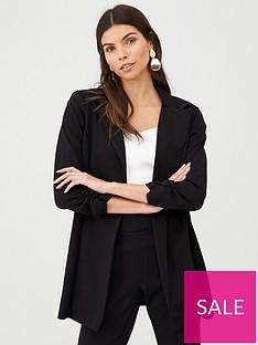 v-by-very-longline-jersey-crepe-blazer-black