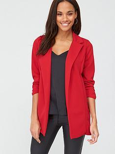 v-by-very-longline-jersey-crepe-blazer-red