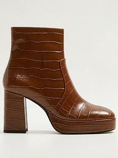 mango-platform-croc-ankle-boots-brown
