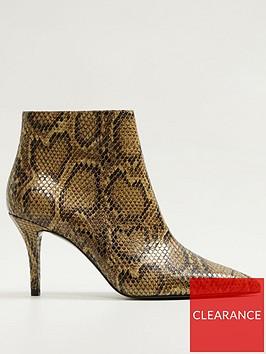 mango-stilettonbspsnake-ankle-boots-brown