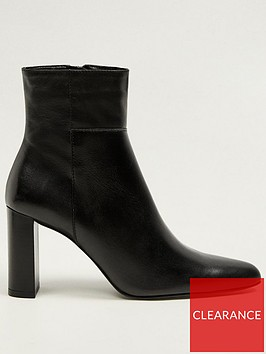 mango-leather-slim-heel-ankle-boots-black
