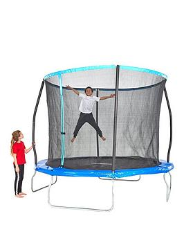 Sportspower 10Ft Trampoline With Easi-Store Folding Enclosure  Flip Pad