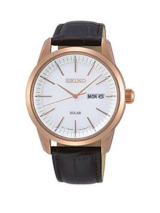 seiko-seiko-white-and-rose-gold-detail-daydate-dial-black-leather-strap-mens-watch