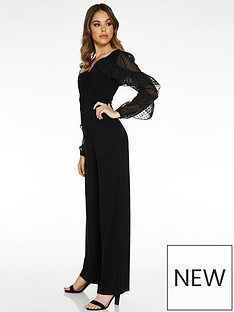 quiz-woven-v-neck-palazzo-jumpsuit-black