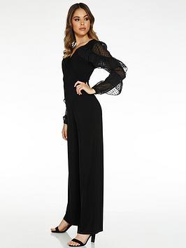 quiz-woven-v-neck-palazzo-jumpsuit-black