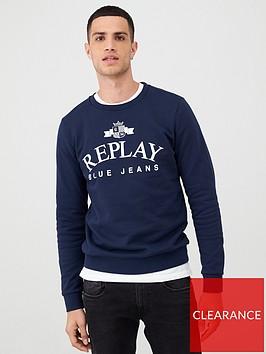 replay-blue-jeans-logo-print-sweatshirt-navy