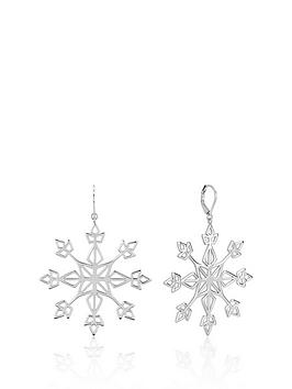 disney-disney-frozen-ii-white-gold-plated-statement-snowflake-earrings