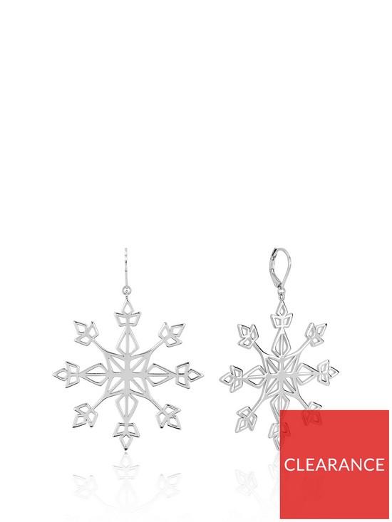 Disney Frozen II White Gold Plated Statement Snowflake Earrings £38 @ Very.co.uk