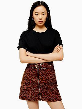 topshop-topshopnbspraw-hem-t-shirt-black