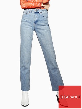 topshop-tall-straight-jeans-bleached