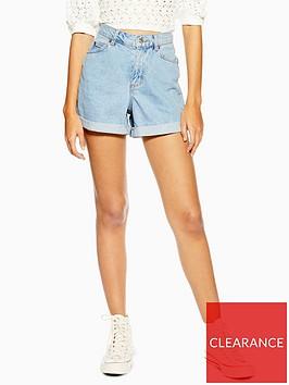 topshop-roll-hem-mom-shorts-blue